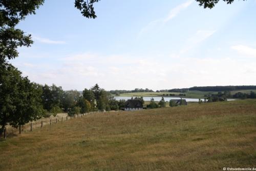 Blick auf das Ferienhaus Boddenblick