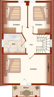 Grundriss (Obergeschoss) – Ferienhaus Sonnenwiese